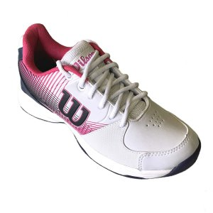 Tenis Wilson Ace All Court Feminino Branco e Azul