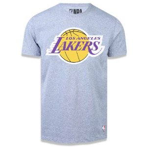 Camiseta Los Angeles Lakers Big Logo Cinza - NBA