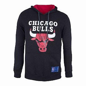 Casaco Moletom Chicago Bulls Canguru Logo - NBA