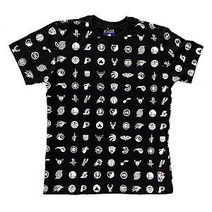 Camiseta NBA Estampada Mini Logos - NBA