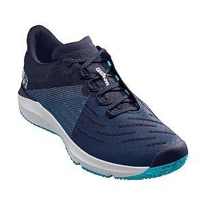 Tenis Wilson Kaos 3.0 All Court Masculino Azul e Branco