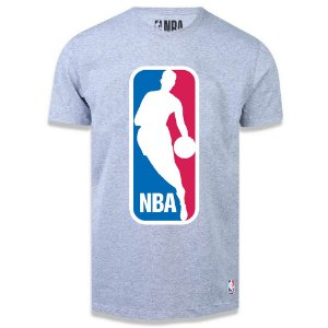 Camiseta LogoMan Big Logo Cinza - NBA