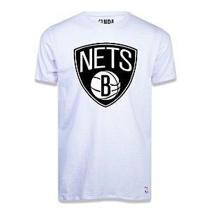 Camiseta Brooklyn Nets Big Logo Branca - NBA