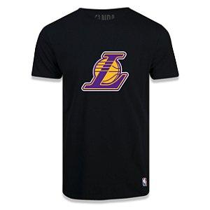 Camiseta Los Angeles Lakers Vinil Preta - NBA