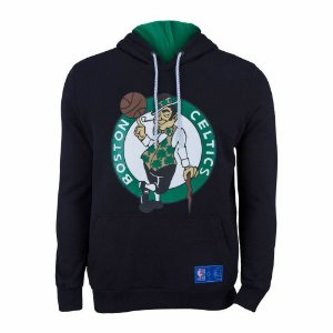 Casaco Moletom Boston Celtics Canguru Logo Preto - NBA