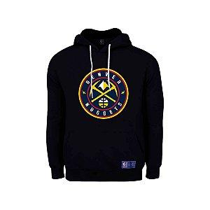 Casaco Moletom Denver Nuggets Canguru Logo - NBA