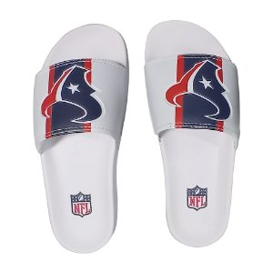 Chinelo Slide NFL Houston Texans Branco e Azul