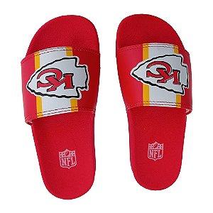 Chinelo Slide NFL Kansas City Chiefs Vermelho e Amarelo