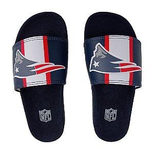 Chinelo Slide NFL New England Patriots Azul Marinho e Branco
