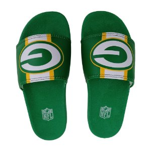 Chinelo Slide NFL Green Bay Packers Verde e Amarelo