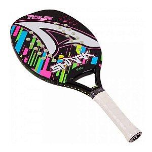 Raquete Beach Tennis Tour 2021 Colorida Fibra Vidro -  Shark