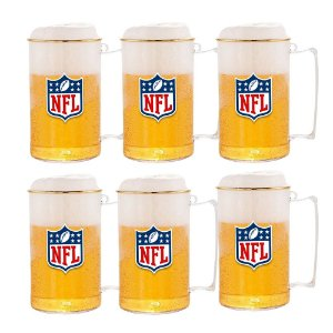 Kit 6 Caneca de Choop Acrílico 500ml - NFL