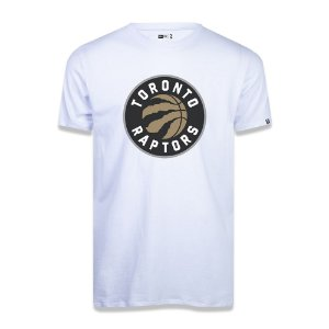 Camiseta Toronto Raptors Basic Logo NBA Branco - New Era