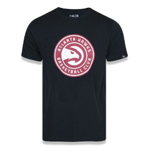 Camiseta Atlanta Hawks Basic Logo NBA Preto - New Era