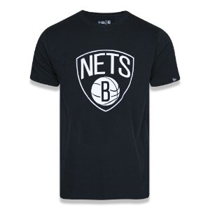 Camiseta Brooklyn Nets Basic Logo NBA Preto - New Era