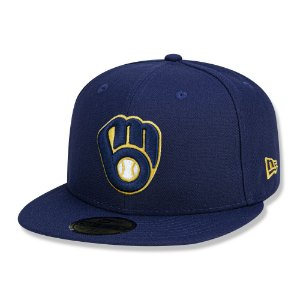 Boné Milwaukee Brewers 5950 Game Cap Fechado Azul - New Era