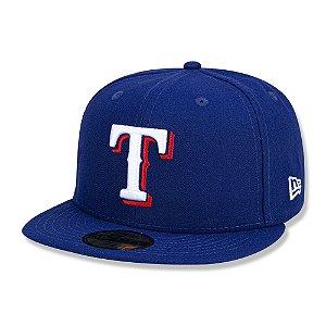 Boné Texas Rangers 5950 Game Cap Fechado Azul - New Era