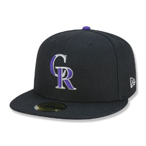 Boné Colorado Rockies 5950 Game Cap Fechado Preto - New Era
