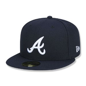 Boné Atlanta Braves 5950 Game Cap Fechado Azul - New Era