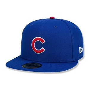 Boné Chicago Cubs 5950 Game Cap Fechado Azul - New Era