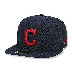 Boné Cleveland Indians 5950 Game Cap Fechado Azul - New Era