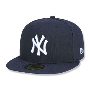 Boné New York Yankees 5950 Game Cap Fechado Azul - New Era