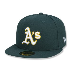 Boné Oakland Athletics 5950 Game Cap Fechado Verde - New Era