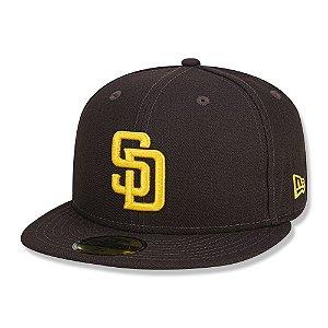 Boné New Era Fechado 5950 San Diego Padres Game Cap Marrom