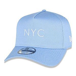 Boné New Era 940 A-Frame NYC Core Candy Aba Curva Azul Claro