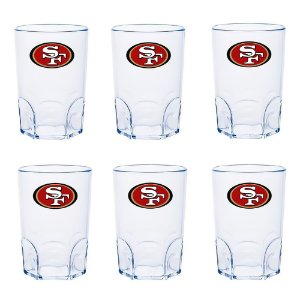 Kit 6 Mini Copo San Francisco 49ers Acrílico 60ml - NFL