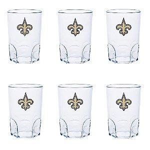 Kit 6 Mini Copo New Orleans Saints Acrílico 60ml - NFL