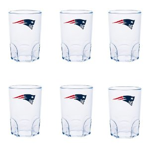 Kit 6 Mini Copo New England Patriots Acrílico 60ml - NFL