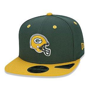 Boné New Era Green Bay Packers 950 Cor Helmet Verde Aba Reta