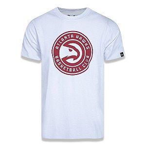 Camiseta New Era Atlanta Hawks Basic Logo NBA Branco