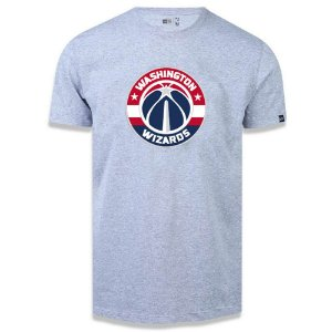 Camiseta New Era Washington Wizards Basic Logo NBA Cinza
