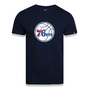 Camiseta New Era Philadelphia 76ers Basic Logo NBA Azul