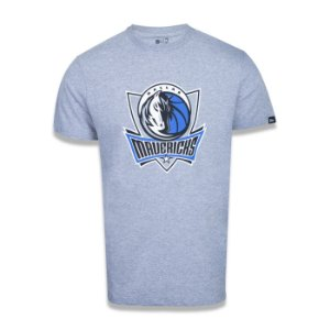 Camiseta New Era Dallas Mavericks Basic Logo NBA Cinza