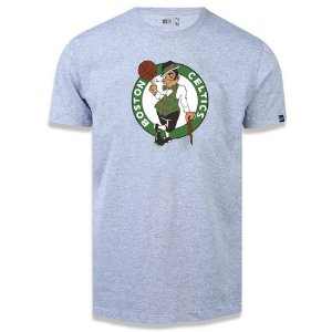 Camiseta New Era Boston Celtics Basic Logo NBA Cinza Mescla