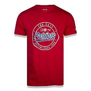 Camiseta New Era New England Patriots Team Seal NFL Vermelho