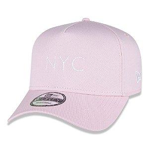 Boné New Era 940 A-Frame NYC Core Candy Aba Curva Rosa