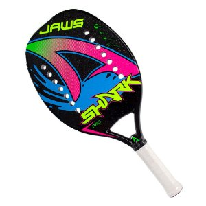Raquete Shark Beach Tennis Jaws 2021 Pro Carbono Preto