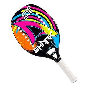 Raquete Shark Beach Tennis Pro One 2021 Fibra de Vidro Preto