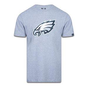 Camiseta New Era Philadelphia Eagles Logo Time NFL Cinza