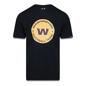 Camiseta New Era Washington Football Team Logo Time Preto