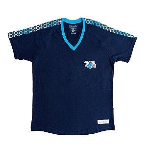Camiseta M&N Charlotte Hornets Colmeia NBA Preto/Azul