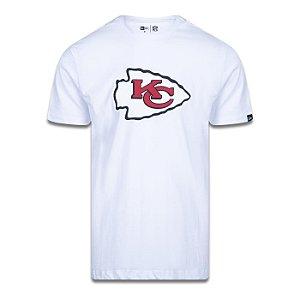 Camiseta New Era Kansas City Chiefs Logo Time NFL Branco