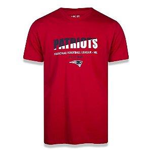 Camiseta New Era New England Patriots Two Colors Vermelho