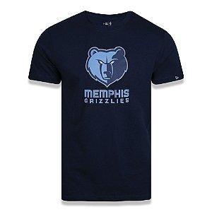 Camiseta New Era Memphis Grizzlies Basic Logo NBA Azul