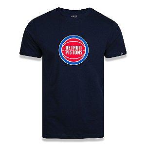 Camiseta New Era Detroit Pistons Basic Logo NBA Azul Marinho