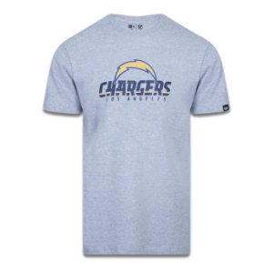 Camiseta New Era Los Angeles Chargers Logo Time NFL Cinza